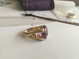 Hand carved Amethyst Dress Ring