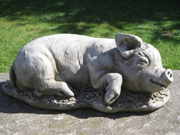 Sleeping Pig Garden Statue