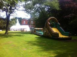 Inflatable army assault course on hire, Merseyside