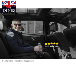 Taxi service from Heathrow to Farnborough by Dinez