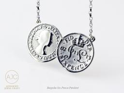Lucky Six pence pendant - Wedding Gifts -