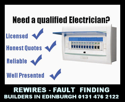 House Rewires, Testing, Builders In Edinburgh