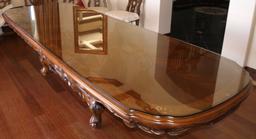 Full length Oak mahogany antique table protective
