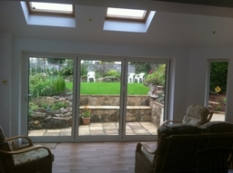 Bifolding doors from inside