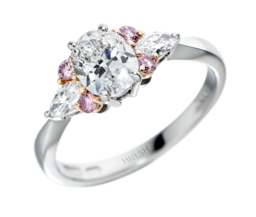 Pink Diamond Papillion Ring