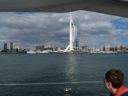 The solent and Spinnaker Tower