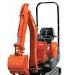 Micro digger which will fit through a doorway or garden gate