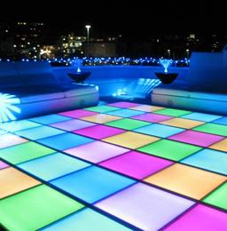 Coloured disco dance floor hire