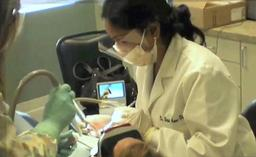 Dr. Hetal Amin-Patel at work at her Emergency dent