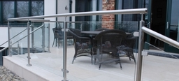 Stainless Steel And Glass Panels For Terrace