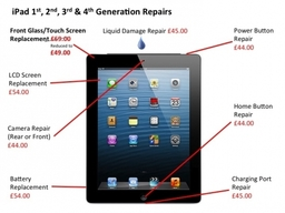 iPad 1st, 2nd, 3rd and 4th Generation Repairs