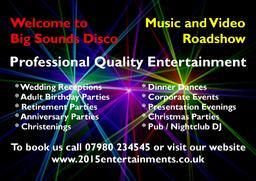 Big Sounds Disco - Business Card