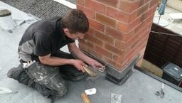 Installing lead flashings