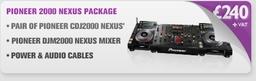Pioneer CDJ2000NXS and Pioneer DJM2000NXS DJ Package