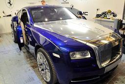 Rolls Royce Wraith chrome wrap,window tinting,