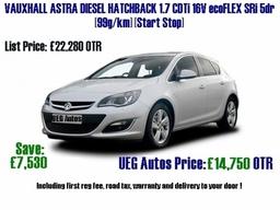 Vauxhall Astra Diesel 1 7cdti Ueg Autos