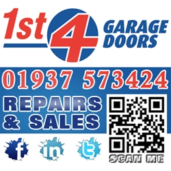 1st 4 Garage Doors - Free call out, repairs from £20.00.