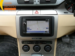 VW Passat Fitted With Pioneer Double Din Sat Nav Unit.