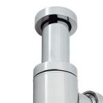 Chrome wash hand basin Bottle Trap.