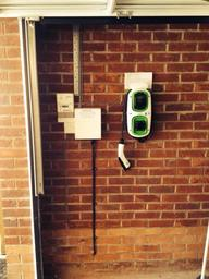 Electric car charging point installed.