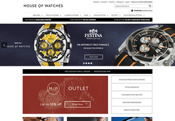 House of Watches Landing Page Design
