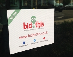 Bid on This Window Sticker for UK auction houses to display