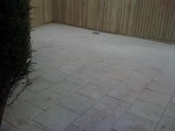 rear patio and fencing