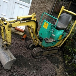 man and digger hire