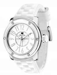 Glam Rock Ladies Aqua Rock White Silicone Watch