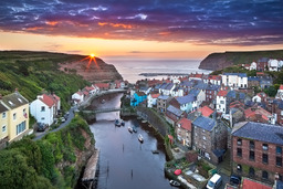 Summer sunrise at Staithes, North Yorkshire