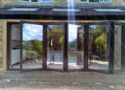Our Smart bi fold doors are the perfect way to open up a room and bring the outside in.
