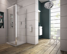 Luna Pivot Shower Door 8mm Easy Clean