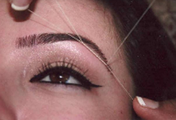 Have perfect eyebrows with our hair threading service
