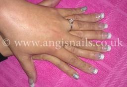 Silver & white acrylics