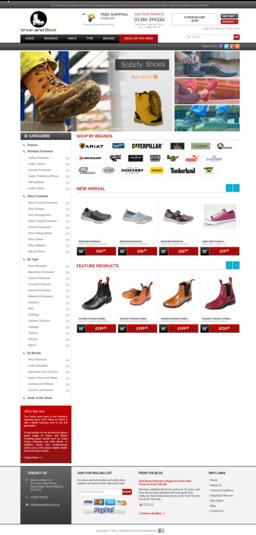 Recent Project, eCommerce www.shoeandboot.co.uk