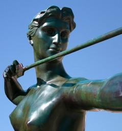 Diana Bronze Garden Statue
