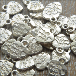 Silver Made With Love Charms