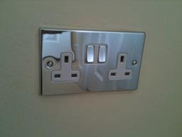 Polished chrome socket.