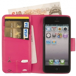Chelsea Real Leather Compact Wallet Case for iPhone 5 5C 5S