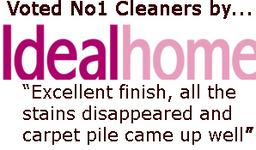Voted No. 1 Cleaners by Ideal Homes