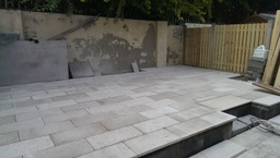 yellow granite paving by Aspects of Landscaping