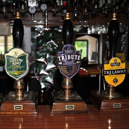 A selection of Real Ales served at The Red Lion