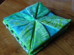 Fabric origami needlecase
