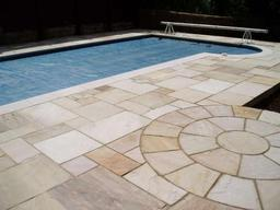 Poolside paving in Gloucestershire by Wiltshire based Acer Paving & Landscaping
