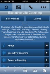 Executive Life Coaching Mobile Web Design