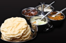 Papadoms and Chutney Sauces