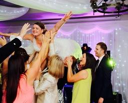 Wedding where bride lifted on dance floor