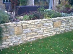 Garden walling and landscaping in Worcestershire by Wiltshire based Acer Paving & Landscaping