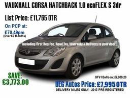 Ueg Autos Vauxhall Corsa Hatchback Red