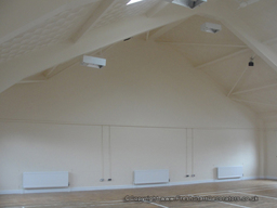 Church hall painted by Fresh Start Decorators